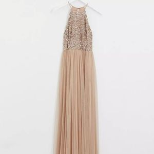 ASOS sequin and tulle gown
